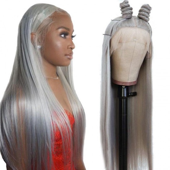 12 Colors! Colorful Wig Human Hair Mix Color Lace Front Wigs for Black Women