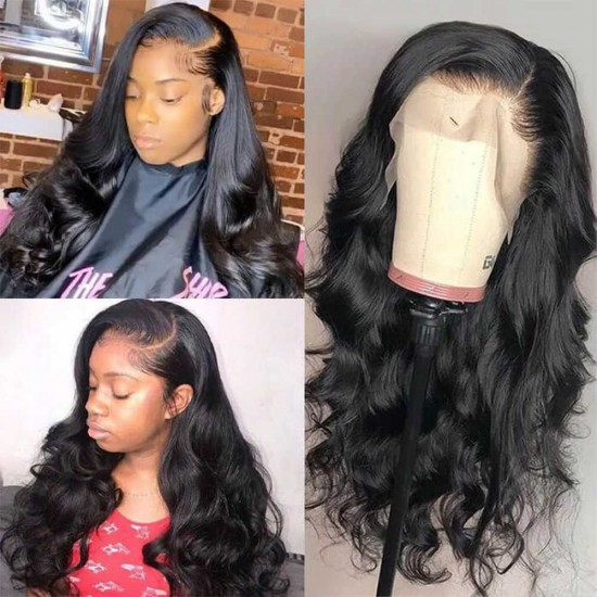 HD Transparent Lace Wigs Body Wave Invisible 13x4 13x6 Lace Front Human Hair Wigs for Black Women Pre Plucked with Baby Hair