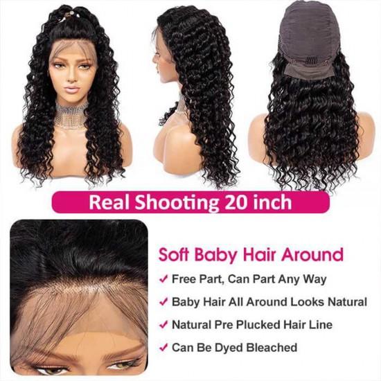 HD Lace Wig Deep Wave Transparent Lace Front Wigs Human Hair 13x4 13x6 Brazilian Virgin Hair Wigs for Black Women