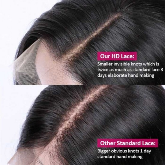 Straight HD Lace Wig 13X6 13X4 Transparent Lace Front Human Hair Wigs With Baby Hair High-Quality Natural Hairline