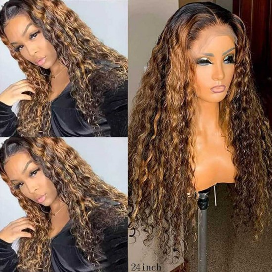 Highlight Wigs Human Hair Lace Front Wigs for Black Women Colored Hair Wigs 13x4 Lace Frontal Wigs Pre Plucked Headline With Baby Hair