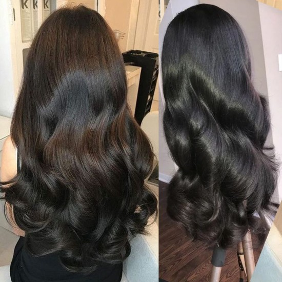 Lace Closure Wigs 4x4/5x5/6x6 Lace Wigs Brazilian Straight Human Hair Wigs Natural Color
