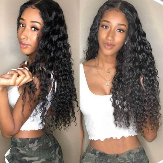 Lace Closure Wigs 4x4/5x5/6x6 Water Wave Closure Wigs Brazilian Wet And Wavy Lace Closure Human Hair Wigs for Black Women