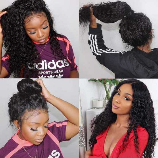 Deep Wave Lace Front Wigs Human Hair Brazilian Virgin Human Hair Wigs 13x4 13x6 Lace Front Wig for Black Women 360 Lace Frontal Wigs Deep Part  Lace Front Wigs