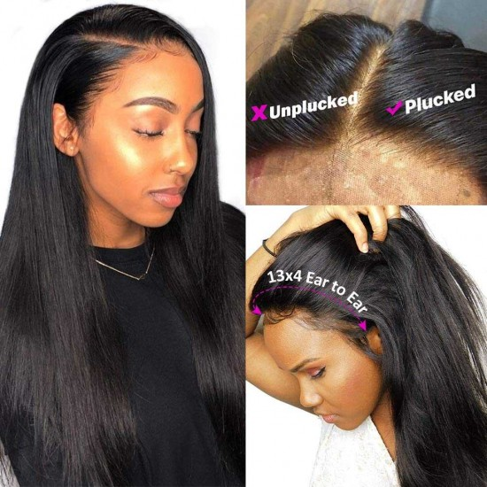 Straight Lace Front Wigs Human Hair 13x6 13x4 Lace Front Human Hair Wigs Pre Plucked Hairline With Baby Hair Remy Brazilian Lace Wigs for Black Women
