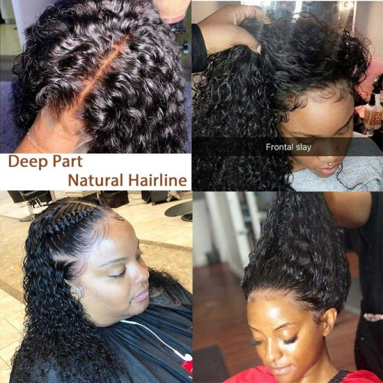 Water Wave Lace Front Wigs Human Hair For Black Women Wet And Wavy Hair Wigs for Black Women Human Hair Lace Frontal Wigs